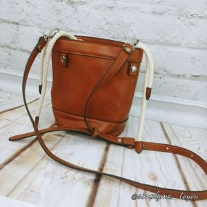 Steve Madden Faux Leather Drawstring Bag